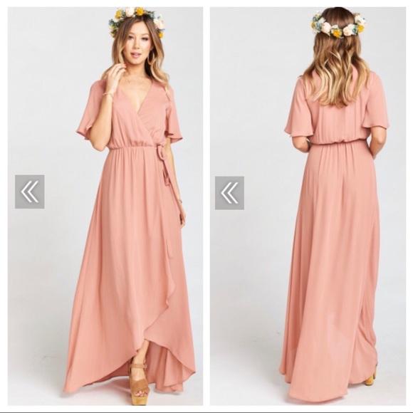 527449877b19 Show Me Your MuMu Dresses | Smym Rustic Mauve Crisp Sophia Wrap ...